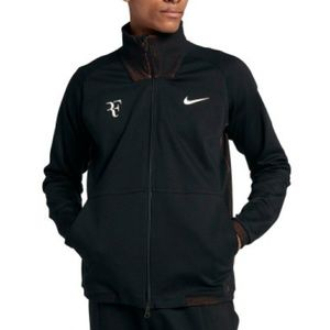 Nike RF Black and Lava Tennis Jacket